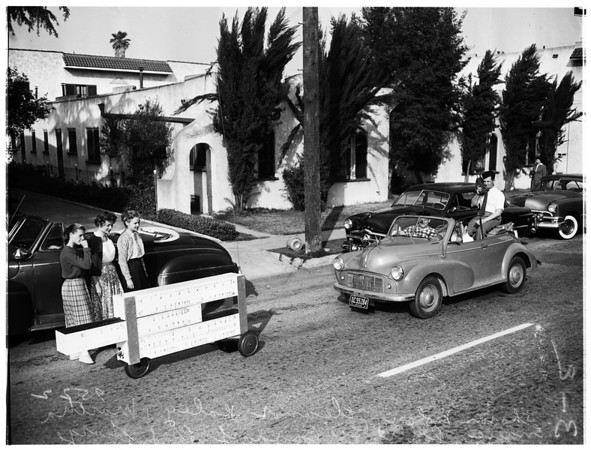 Pre-vue of open house to be held at University of Southern California Engineering School, 1952