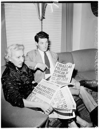Bomb on plane, 1952