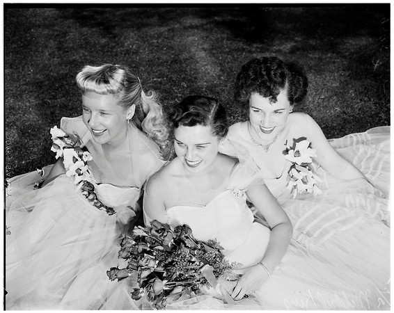 All States picnic (queen and princesses), 1952