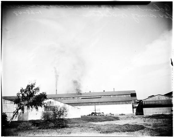 Cited for smog violation, 1948
