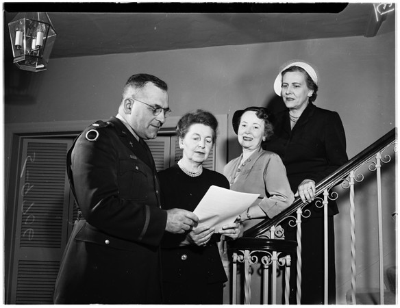 Chaplains Service Corps Benefit (planning committee), 1952