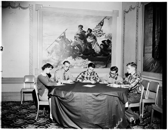 Santa Monica Charity League women, 1952