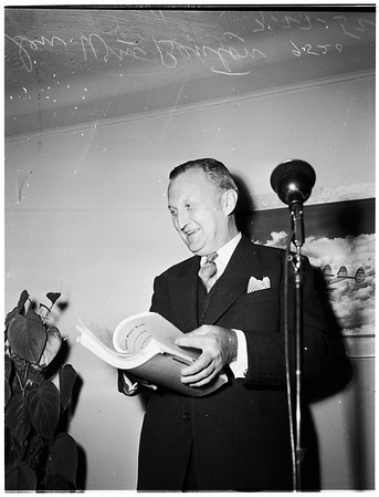 Senator from Connecticut... alone in picture, 1952