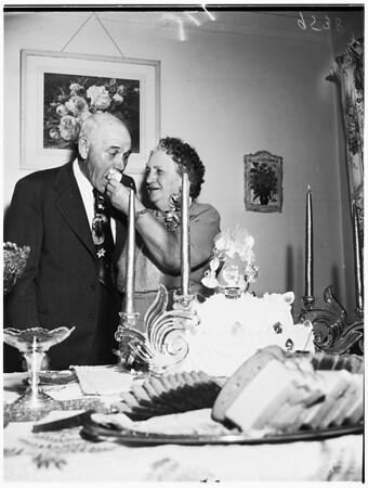 Reichert Golden Wedding party (1933 West 79th Street), 1952