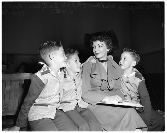 Board of Education meeting (triplets), 1952