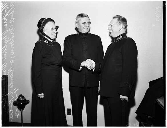 Salvation Army head, 1952