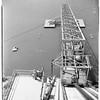 Morris Dam... San Gabriel Canyon... United States Navy Ordinance Test Station, Variable angle launcher... Pontoon Bridge... Tower, etc., 1952