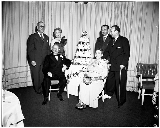 Leichter Fiftieth Wedding Anniversary dinner at Beverly Hills Hotel, 1952