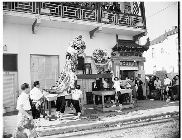 End of Chinese New Year, 1952