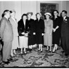 Optimist Club honors women judges, 1952