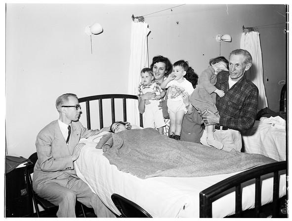 Babies in hospital (Georgia Street Hospital), 1952