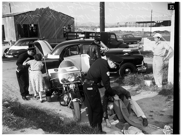 Boy killed in private driveway, 1952