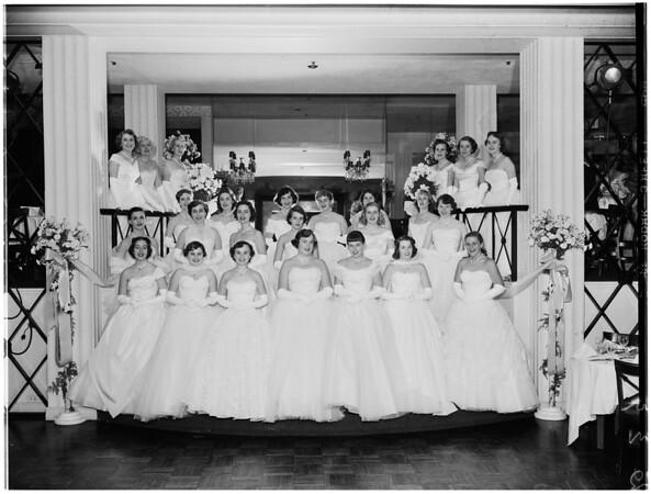 Society... Coronet debutantes ball, 1952