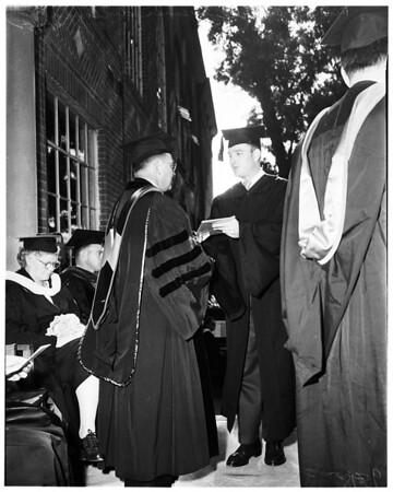 Chapman College graduation, 1952