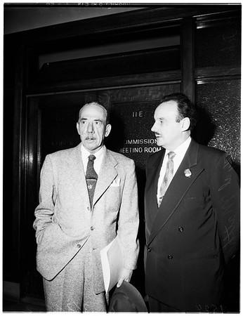 Civil service hearing, 1952