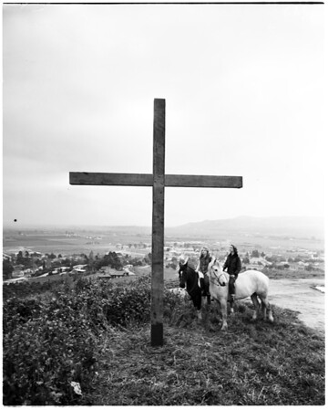 Easter Cross... Puente Hills, 1952