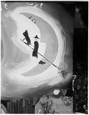 Halloween windows (Pasadena), 1952