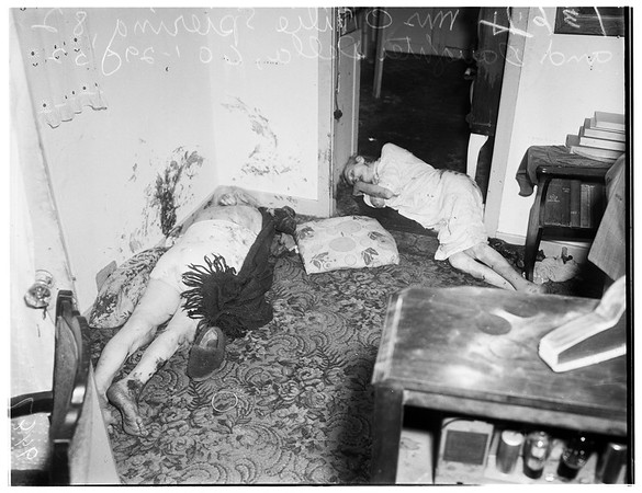 Double death... 1431 South Mansfield Avenue, 1952