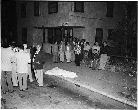 Murder in front of 663 Lamar Street, 1952