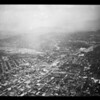 Aerial views of Rose Parade, 1952