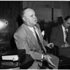 Wabash railroad president... alone in picture, 1952