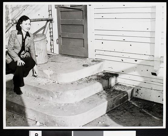 Sprayed with flak, 1942