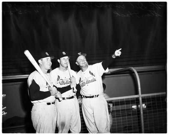 Baseball -- Dodgers versus St. Louis Cardinals, 1958