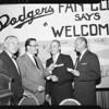 Baseball Dodger Award to Bob Hunter, 1958.