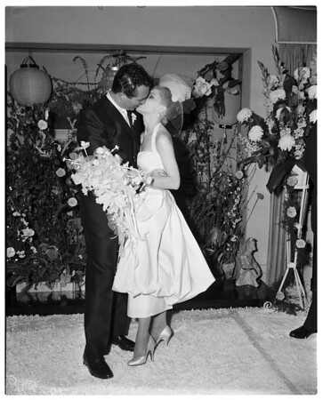 Debra Paget wedding, 1958