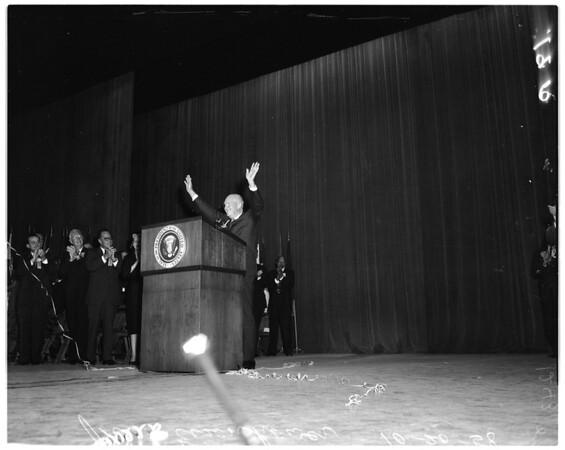 President Eisenhower at Shrine Auditorium, 1958