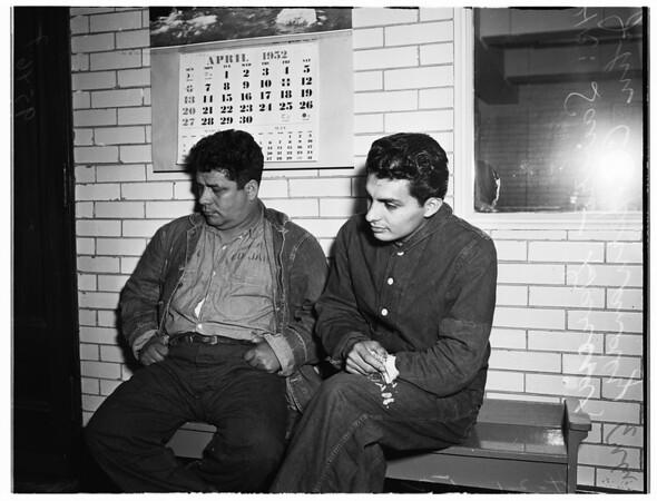 Narcotics suspects, 1952