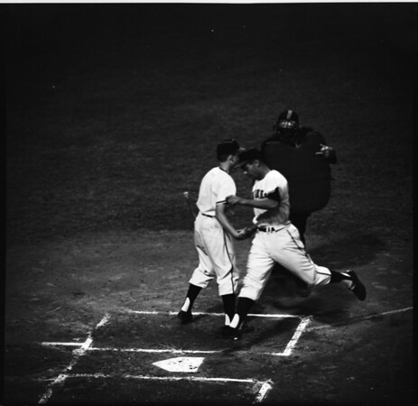 Baseball... Los Angeles Angels versus Chicago White Sox, 1961