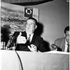 O'Malley and Dodgers press interview at Biltmore Hotel, 1958