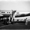 Eisenhower departure, 1958