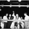 Boxing Wrigley field, 1958