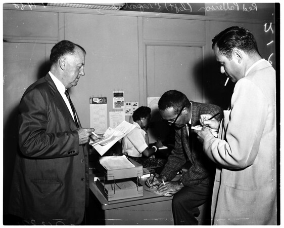 Baseball -- Dodgers Executives, 1958