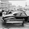 Auto versus auto (Wilshire Boulevard and Fairfax Avenue), 1952.