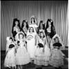 La Ballona Fiesta Queen and court, 1961