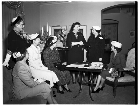 National Charity League officers, 1952