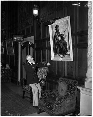 Bell captain at Biltmore Hotel, 1958