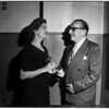 Alliance of Fine Arts Club, New Officer receives gavel from old, 1952