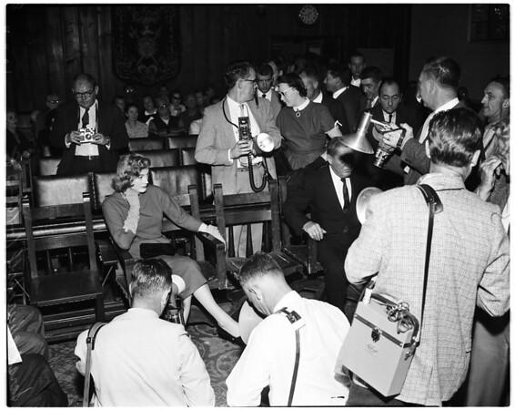 Churchill drunk hearing, 1958