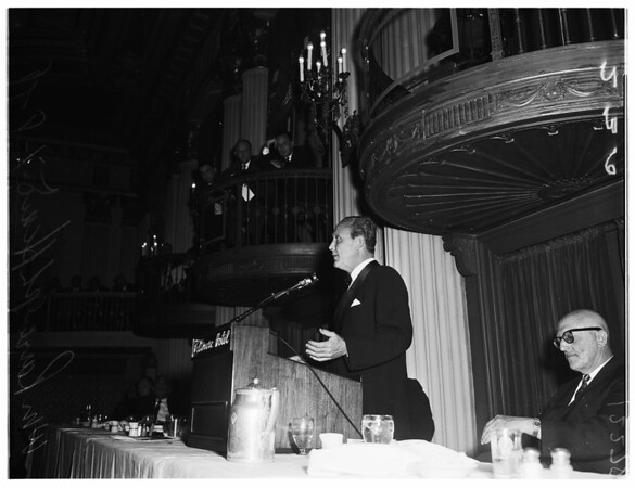 Hearst talk at Biltmore (Business Outlook), 1958