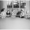Costumed children for the bookworms of Assistance League story book ball, 1952