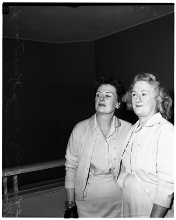 Molly O'Day Kenaston in court, 1956