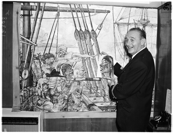 Mural in sections, 1958