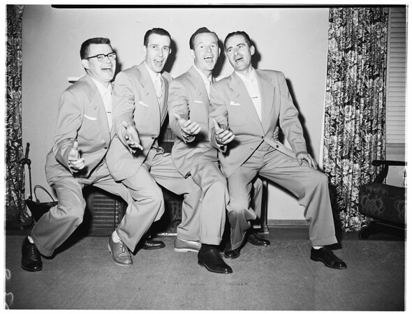 Whittier singing contest (Barber shop quartet), 1952