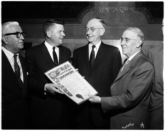 Dr. Sproul honored, 1957
