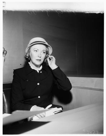 Mrs. Clark Gable gets divorce, 1952