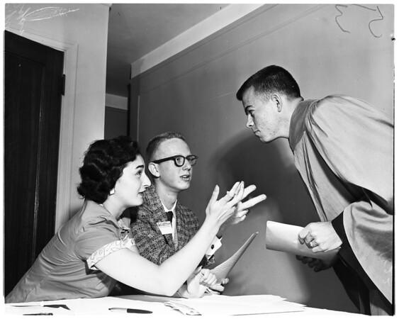 Junior Statesmen of America in Long Beach [Municipal] Auditorium and Wilton Hotel, 1956